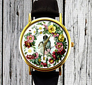 Vintage Love Birds Watch,Floral Watch,Flower Watch,Ladies Watch,Mens Watch,Womens Watch,Gift Idea,Custom Made Watch