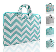 LOELMALL ® Carry Laptop Sleeve Canvas Fabric 13-13.3 Inch (Briefcase Green stripes)