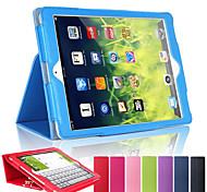 Litchi Soft Artificial Leather Cover With Auto Sleep Wake Up For Apple iPad Air 2 Magnetic Flip Case