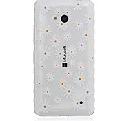 White Flower Pattern Transparent TPU Soft Case for Nokia 640