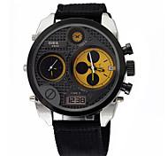uomo orologi doppio calendario movimento dell'orologio di sport militare da polso impermeabile analogico (colori assortiti)