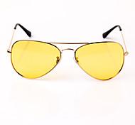 Sunglasses Unisex's Lightweight / Fashion / Polarized Flyer Beige Driving / Night Vision Goggles Full-Rim