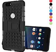 2 in 1 a due colori staccabile caso ibrido tpu + pc con kickstand per Huawei nesso 6p (colori assortiti)