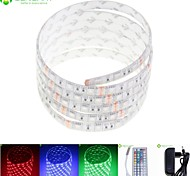 5M 75W 300x5050 RGB SMD LED DC12V IP68 Waterproof Strip Light + 44Key Remote Control RGB + 12V 2A power AC100-240V