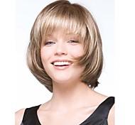 de color rubio bobo largo medio pelucas de pelo sintético dama de la moda