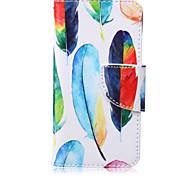 Farben federn Vögel Muster PU-Material Kartenhalterung iPod Touch 6.5