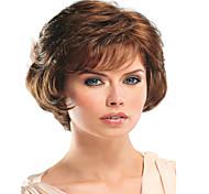 mulheres sintético marrom peruca cor ondulado médio peruca de cabelo sintético
