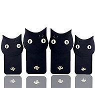 Star Newest Cute Cartoon Animal Black Cat Soft Silicone Case for iPhone 5/5S