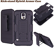 3 in 1 Impact Black Armor Hybrid Case With Belt Swivel Clip Stand for Samsung Galaxy S3/S4/S5/S6/S6 Edge/S6 Edge Plus