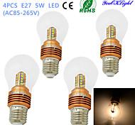 youoklight® 4PCS E27 5W 25*SMD2835 460LM Warm White Light LED High-end&Luxury &High quality Globe Bulbs (AC85~265V)