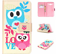 Embossed Coloured Drawing or Pattern PU Leather Wallet Mobile Phone Holster for Samsung Galaxy ON5/ON7