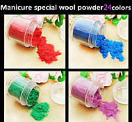1pcs toda a rede de venda de alta qualidade de veludo manicure polonês fluff pó 24 cores opcional