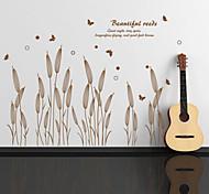 ботанический Наклейки Простые наклейки , PVC 60*90cm
