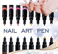 1pcs DIY Nagel-Kunst-Maniküre-Werkzeugstift Lackstift gepunktete Pfeile Stift (16 Arten von Farbe kann sein wählen)