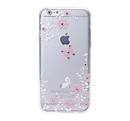 Latest  Butterflies Pattern Swarovski Diamond High Quality Laser Relief Touch Phone Case for iPhone 6/ 6S