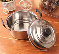 Stainless Steel Single Boiler Practical Double Ear Soup Pot And Thicken Single Bottom Pot At Home