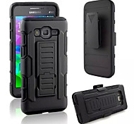 3 in 1 Impact Black Armor Hybrid Case With Belt Swivel Clip Stand for Samsung Galaxy J5/J7/E5/Grand Prime/Core Prime