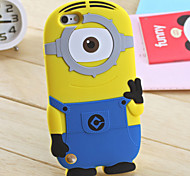 3D Yellow People Silicone Phone Cases for iPod Touch 5