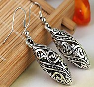 Korean Style Leaf Shape Hollow Earring Studs(Silver)(1Pc)