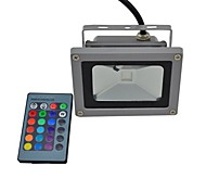 1 pcs tiger light 10W 1 Integrate LED 440lm LM RGB Remote-Controlled / Waterproof LED Flood Lights AC 85-265 V