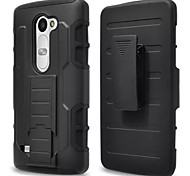 3 in 1 Impact Black Armor Hybrid Case With Belt Swivel Clip Stand for LG C40/LEON/LS665