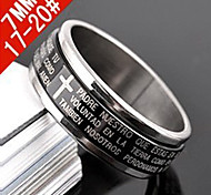 Fashion Men'S Bicyclo- Rotatable Titanium Steel Ring