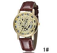 Luminous Men Watch Waterproof Genuine Leather Belt Double-Sided Hollow Quartz Watch Cool Watch Unique Watch