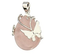 Korean Style Butterfly Alloy Necklace Pendant(Pink,White)(1Pc)