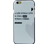 Heart High Quality and Good Price Pattern  Hard Case for iPhone 6/6S