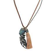 European Style Fashion Hollow Leaves Owl Necklace