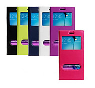 PU Window The Wallet Stents Mobile Phone Case for Samsung Galaxy S6 edge Plus/S6 Edge/S6 Assorted Color
