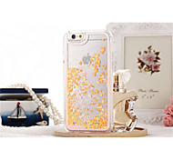 New ! Liquid Glitter Romantic Love Case Transparent Hard Case For iphone 6/6S Cases (Assorted Colors)