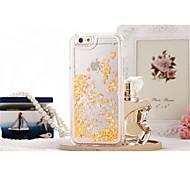 Новый! жидкость блеск романтичный случай любовь прозрачный жесткий футляр для Iphone 6 плюс / 6S плюс случаи (разных цветов)