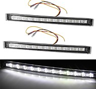 2 *White Yellow 12 LED DRL Car Auto Truck Daytime Running Turn Signal Light 5W