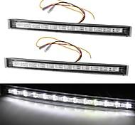 2 *White Yellow 12 LED DRL Car Auto Truck Daytime Running Turn Signal Light 5W