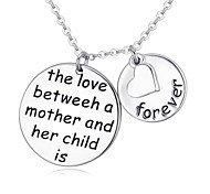 I Love You Silver  Alloy Exquisite Boutique Lucky Necklace Lettering Clavicle Chain