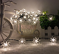 King Ro solar 26.24ft 60LED Lotus Fancy Wedding Party Decoration Light Outdoor Waterproof String Lights