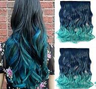 resistencia a altas temperaturas en dos tonos de 26 pulgadas de largo y rizado 5 clip de extensión peluca caliente de la venta.