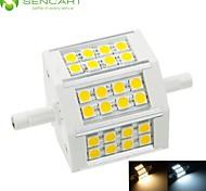 R7S 78mm 24x 5060SMD 8W Warm White / Cool White 800LM 220°Beam Horizontal Plug Lights Dimmable Flood Light AC85-265V