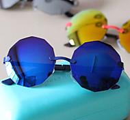 Sunglasses Men / Women / Unisex's Retro/Vintage / Modern / Fashion Round White / Yellow / Light Blue / Blue Sunglasses Full-Rim