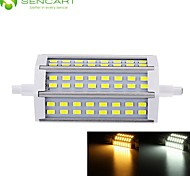 R7S 118mm 48x 5730SMD 12W Warm White / Cool White 1200LM 220°Beam Horizontal Plug Lights Dimmable Flood Light AC85-265V