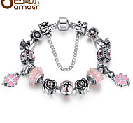 Pink beads DIY925 beaded bracelet jewelry