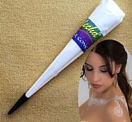 inchiostro mehandi kit di tatuaggio temporaneo halloween 3pcs bianco coni henné corpo arte per la decorazione da sposa