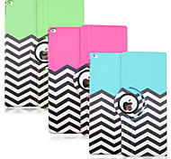 12.9 Inch Wave Pattern 360 Degree Rotation High Quality PU Leather Case for iPad Pro