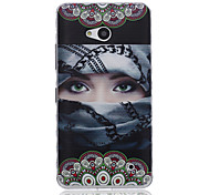 Masked Men Pattern TPU Soft Case for Nokia 640