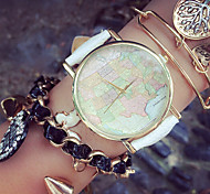 Fashion Women'S Watches Map Bracelets Analog Quartz Watches Mens Watches (Assorted Colors)