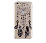Traumfänger schwarzes Muster transparent Telefonkasten rückseitigen Abdeckung für iphone6 / 6s