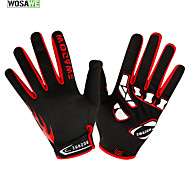 WOSAWE Winter Fleece Thermal Windproof Sports Gloves Cycling,Hiking Touch Screen Motorcycle Racing Full Finger Gloves