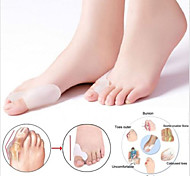 Silicone Fabric Gel Heel Bunion Toe Protector Pain Relief Free Cushion Sleeve(2 pairs )