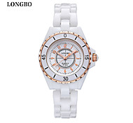LONGBO® Womens Watches Mujer Ceramic Band Quartz Watch Diamond Fashion Brand Cool Watches Unique Watches